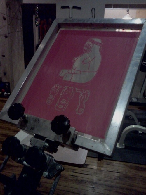Image showing a 'screen' used in screen printing