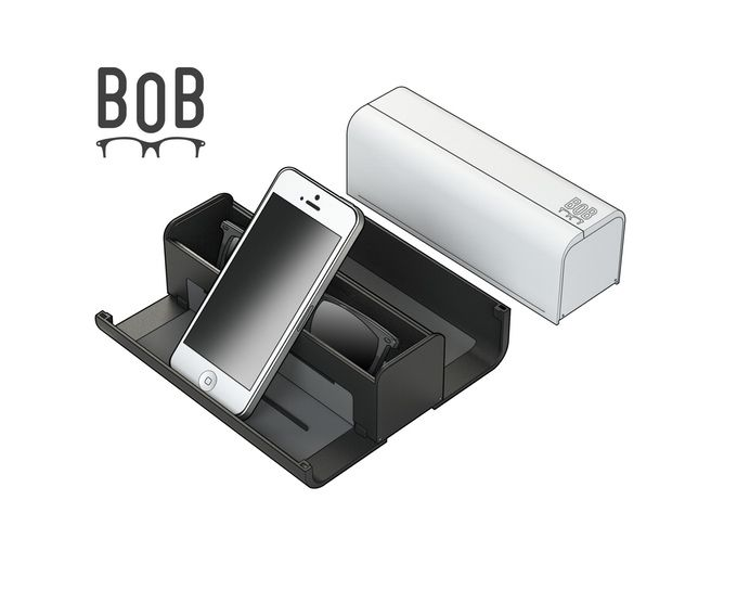 The humble glasses case has just been re-invented. BOB will protect your glasses, display your tech, and house your bits and bobs.