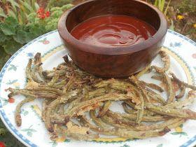 Las recetillas de Isa: Chips de judías verdes con parmesano