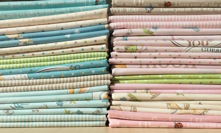 Guess How Much I Love You cotton fabrics at www.sunnysidefabricsuk.com