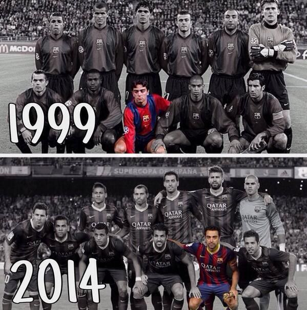 225. Xavi - Then and Now - posted 7 April 1014