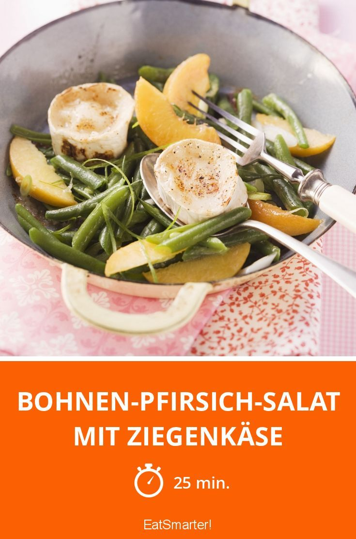 Bohnen-Pfirsich-Salat mit Ziegenkäse - smarter - Zeit: 25 Min. | eatsmarter.de