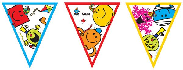 Mr Men Party Flag Bunting - 8.5ft £1.99 each