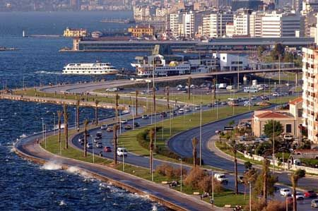 Izmir, Turkey- I visited here in July 1998.  It was hot, hot, hot!