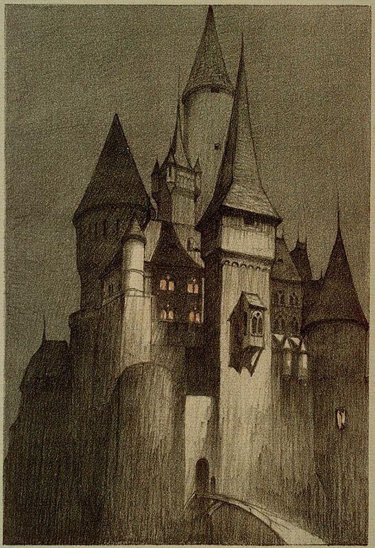 Illustration of Dracula's  Castle