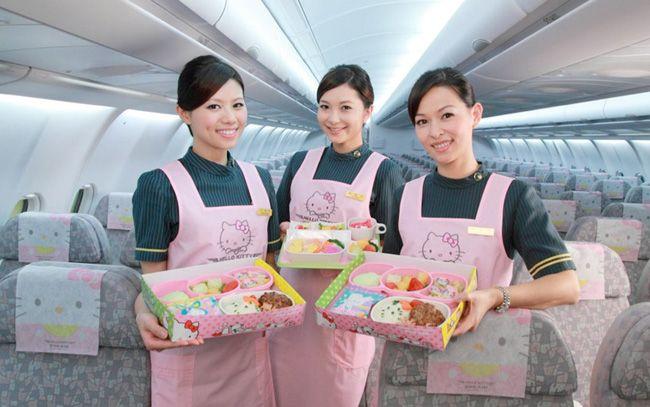 La compañía aérea taiwanesa EVA air fleta tres aviones Hello Kitty
