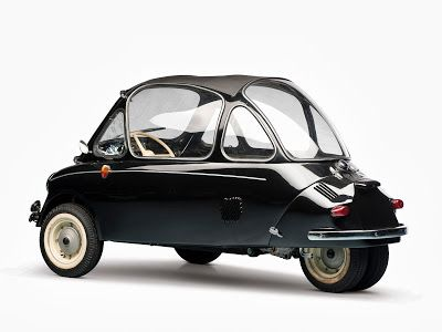 1956 Heinkel Kabine 153 - Aircraft designer Ernst Heinkel saw the Iso Isetta, and decided that he could do one better, using aircraft principles and making it lighter...