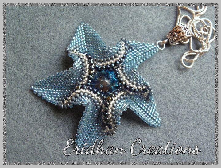 twisted peyote star pendant