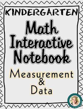 Kindergarten Math Interactive Notebook Measurement Data
