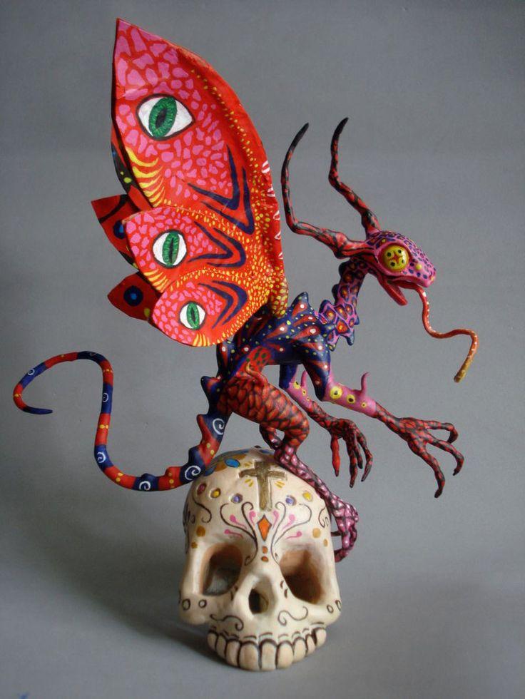 Alebrije multicolor #skull #méxico #mexicanart #alebrije