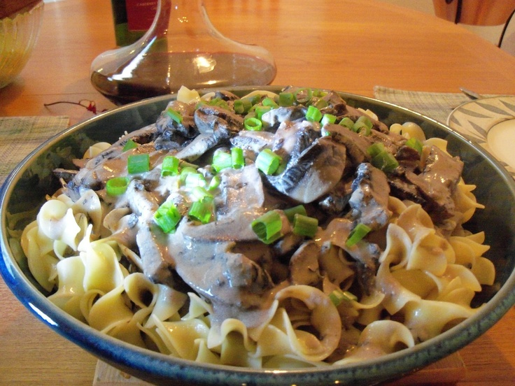 From Best Thing I Ever Made: Alton Brown Mushroom Stroganoff With Goat  Cheese.