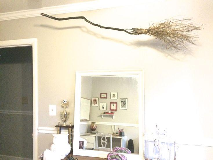 firebolt in the harry potter bedroom