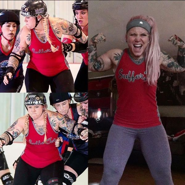 Absolutely freaking love this Transformation Tuesday pic from @debcrush! So inspirational we're mad jelly of her fabulous derby body. She looked strong in her before pics but we know she probably feels AMAZING today. We hope to be somewhere near there in 9 months from now!  Same person. Same jersey. 9 months of hard work later! #transformationtuesday #ILWR #jammercat #ithacaROLLSdeep #fitmom #rollerderby