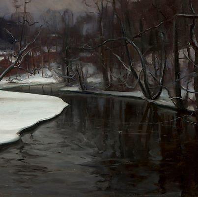 Victor Westerholm, (1860-1919) Talvi Fiskarsissa (1906)