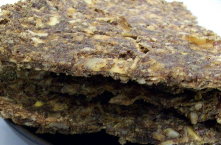 The Rawtarian: Raw onion bread recipe3 massive, huge sweet white onions (2.5 pounds) 1 cup ground sunflower seeds (you can grind them yourself using a coffee grinder) 1 cup ground flax seeds (you can grind them yourself using a coffee grinder) 1/3 cup olive oil 3 1/2 tablespoons of raw soy sauce, tamari or nama shoyu  Dehydrate for 10 hours. Turn over after 6.