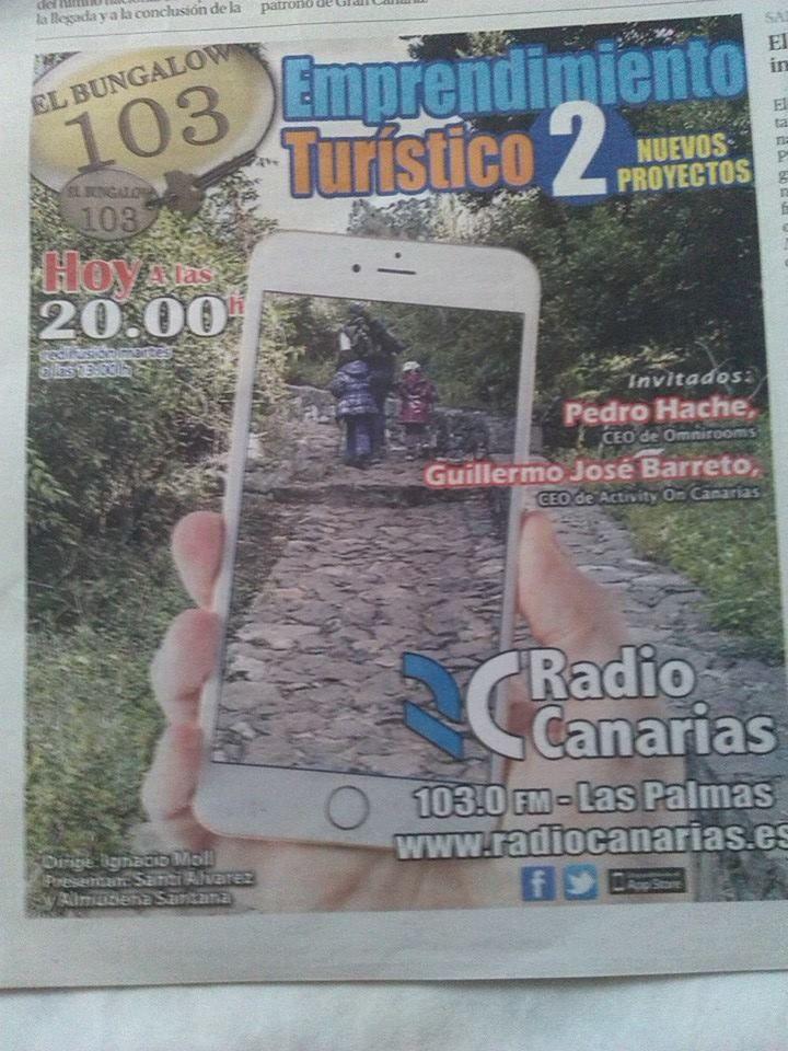Buenas tardes amigos/as esta tarde a las 20:00 horas me entrevistan en @Radio_Canarias @bettyalayon @smanzanedo @eoi