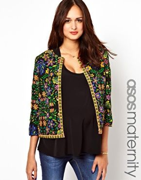 ASOS Maternity Jacket In Quilted Print