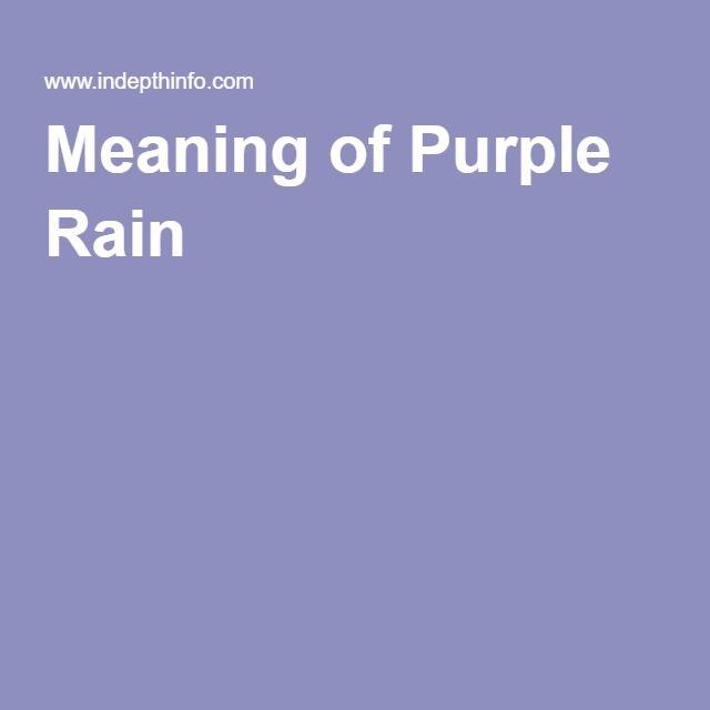 Meaning of Purple Rain