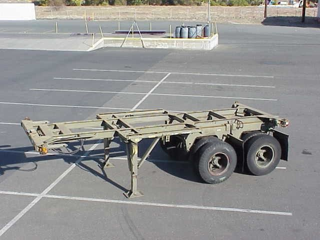 20 Foot Cargo Container Chassis Container Trailer