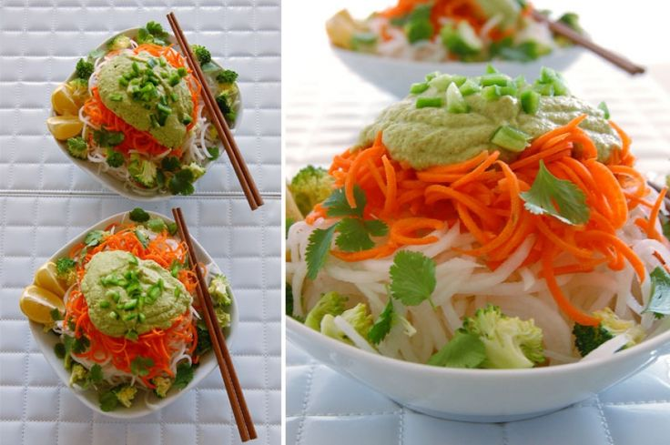 Raw Vegan Recipes: Pad Thai with Daikon Noodles and Almond/Ginger Sauce | THE GLOBAL GIRL ®