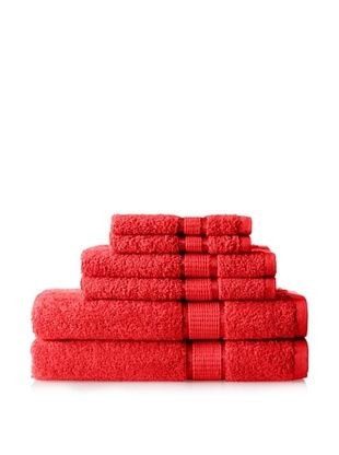 50% OFF Espalma Ambassador 6-Piece Towel Set, Red