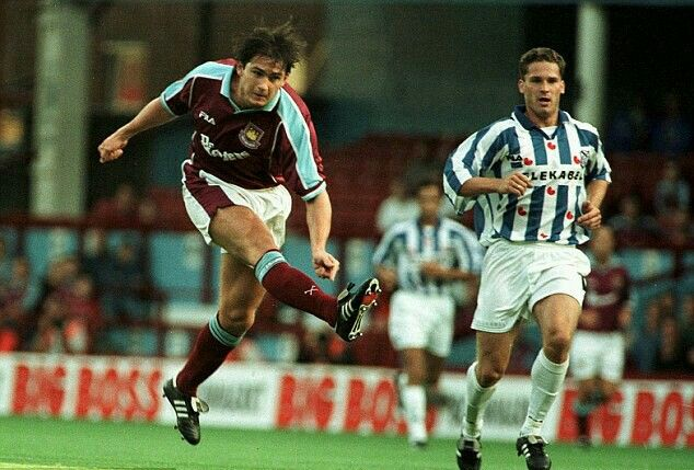 West Ham 1 SC Heerenveen 0 in July 1999 at Upton park. Frank Lampard scores the only goal in the Intertoto Cup Semi Final, 1st Leg.