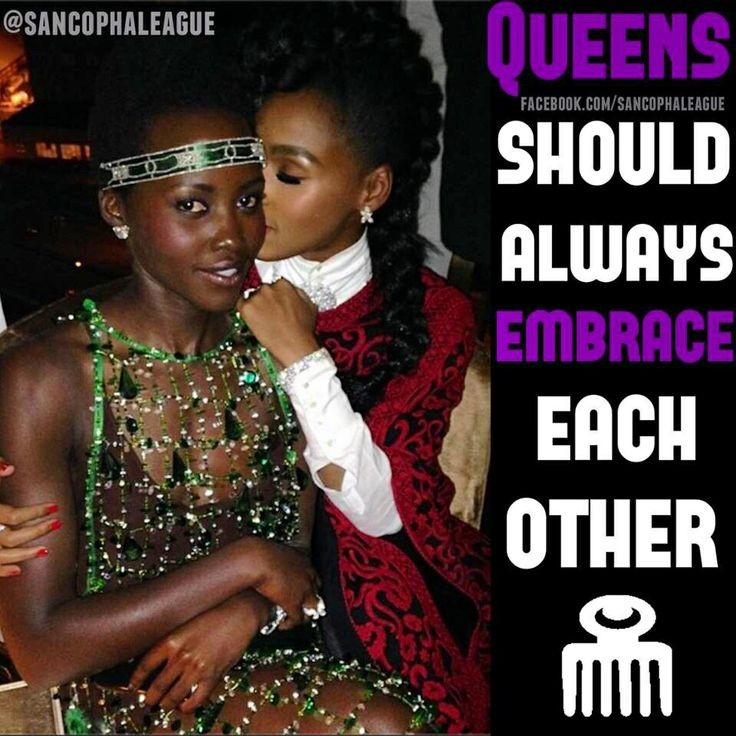 Queens Should Always Embrace each other…  Goodnight…  Post made by @solar_innerg  #sancophaleague