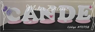 Resultado de imagen para letras en porcelana fria para adornos de tortas