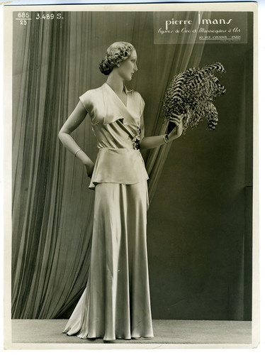 RARE 1920s Art Deco Clothing Mannequin Advertising Photo Pierre Imans