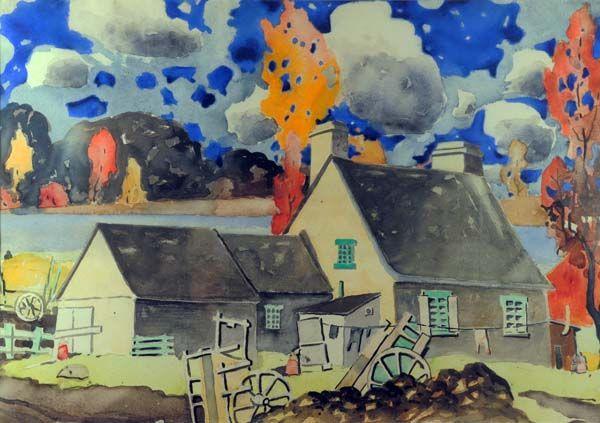 Quebec House (c. 1923) - Marc-Aurele Fortin Deborah Tinsley onto Art Stuff