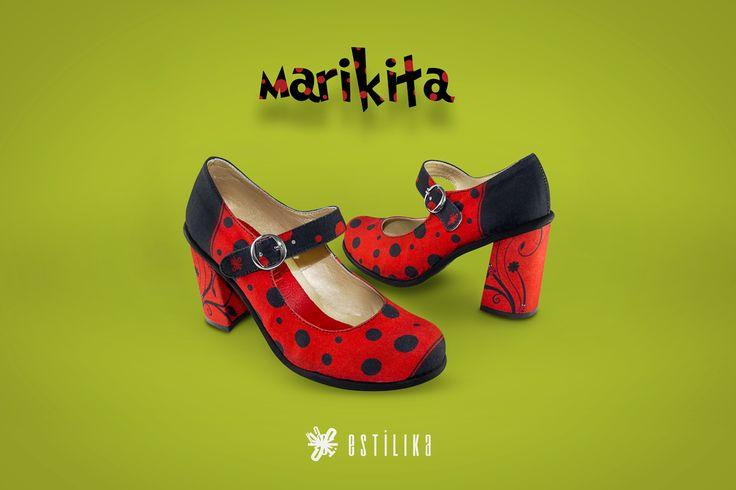 Te gustan nuestros zapatos de tacón Estilika Mariquita?, ahora puedes visitarnos en nuestro sitio https://www.facebook.com/estilika/   Estílika #mujer #tendencia #moda #zapatos #diseñoindependiente #talentocolombiano