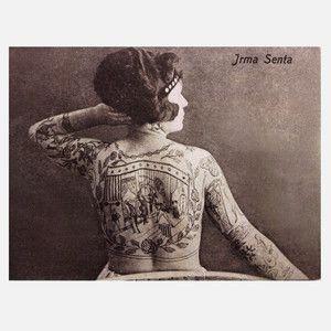 The Tattooed Lady Vintage Print