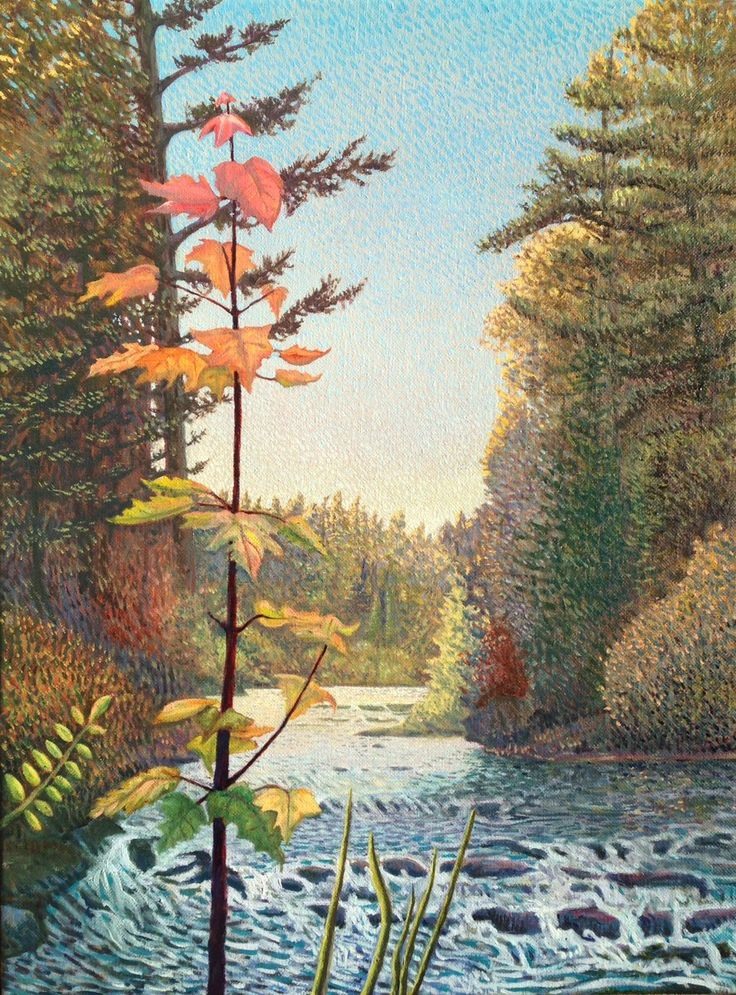 """John Kinsella on Twitter: """"Happy first day of fall- Whisky Rapids, Algonquin 2016 24 x 18 in #AutumnEquinox @EclipseArt @Anishinabe_Life @Mark_Sanche @TTLastSpring https://t.co/ORG2ZW5HMX"""""""