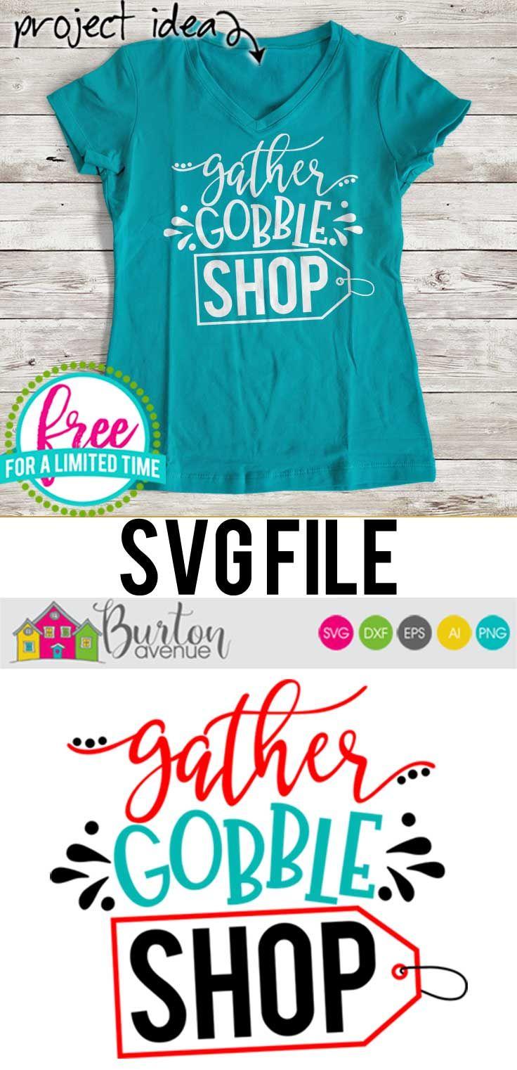 Free SVG Cut File – Gather Gobble Shop