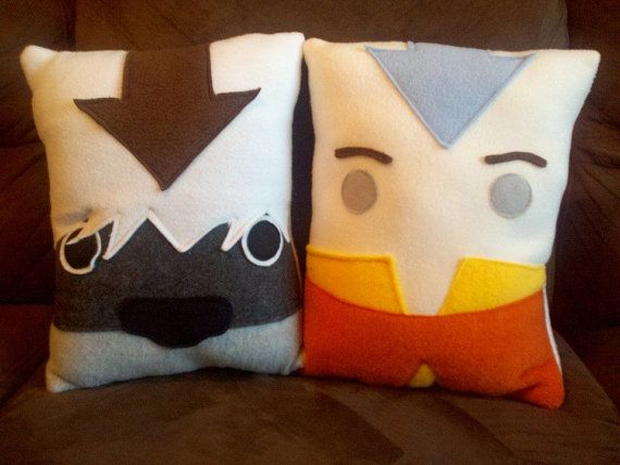 Aang Appa Avatar the last air bender pillow cushion by telahmarie, $30.00