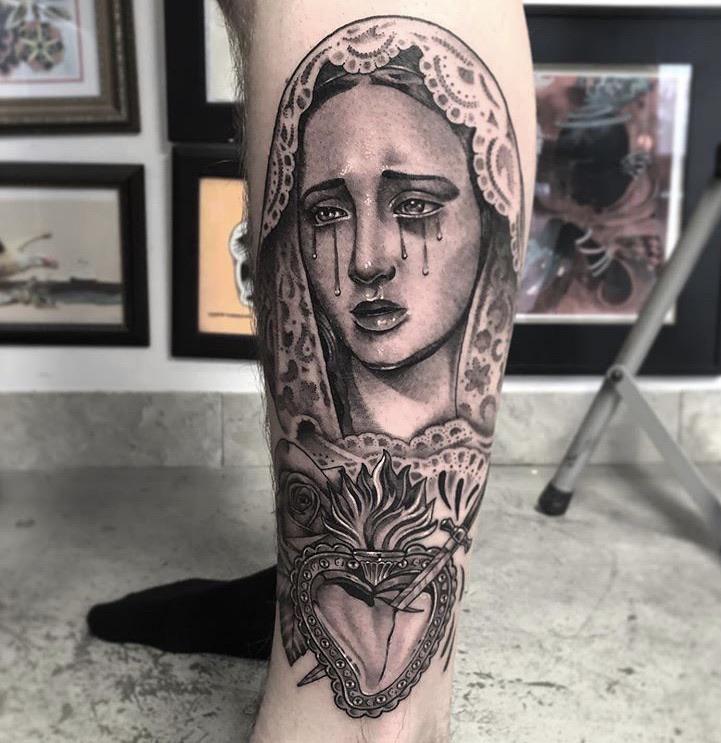 Virgin Mary tattoo by Niki Norberg | Post 26638 | Tattoos