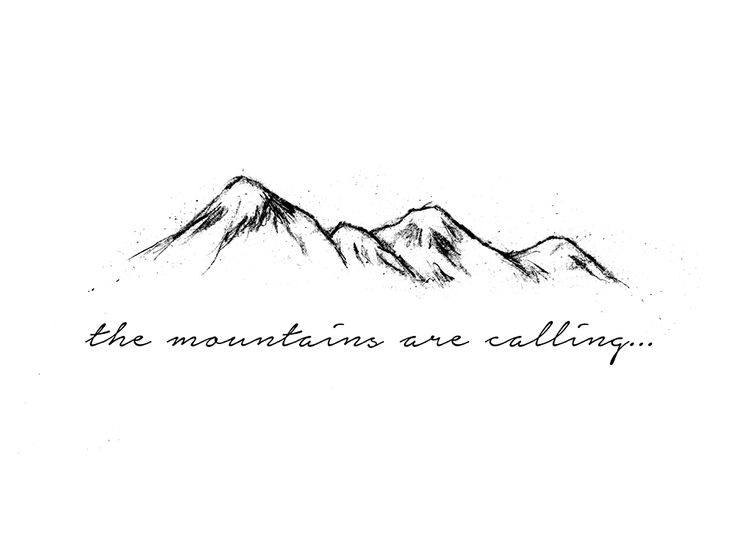 Mountain Temporary Tattoo - Temporary Tattoos + More | Joelle's ...