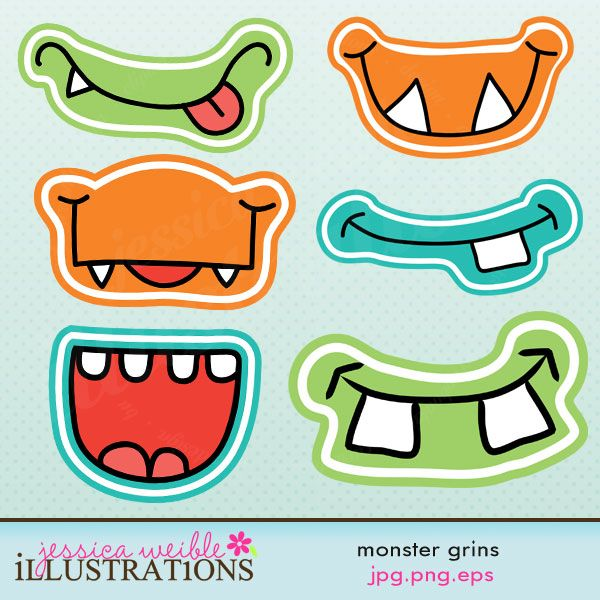 "Monster Grins Could even use for the song ""if you chance to meet a Frown""!  Pin the face in the monster"