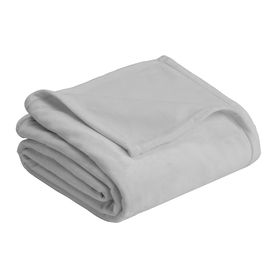 Vellux By Westpoint Home Micro Mink Gray 108-In L X 90-In W Polyester Blanket 1B06289