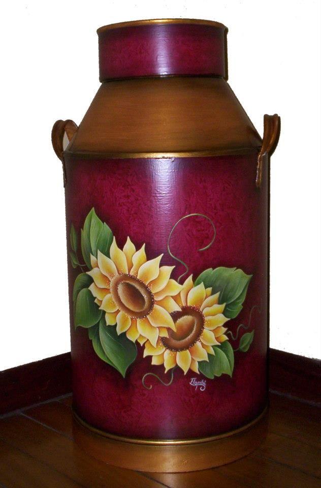 Tarro lechero decorado pintura pinterest - Paragueros antiguos ...