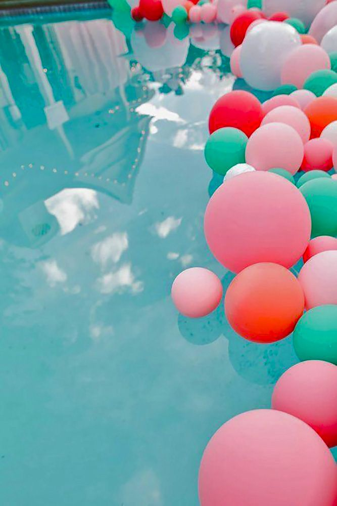 17 best images about colourful modern wedding on pinterest for Pool decorations