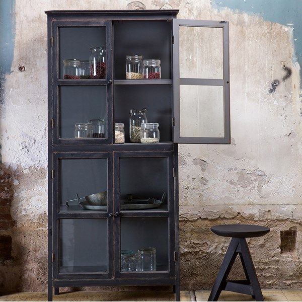 Herritage Slanted Display Cabinet In Black By Bepurehome Shelves