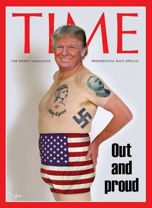 Trump Time cover ~ Republicans are fully out and proud with their racist nominee!!!