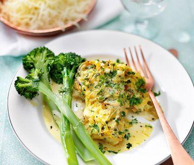Recept: Currygratinerad torsk med persilja