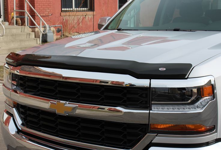 We're pretty excited about the new Platinum Bug Shield for the 2016 Silverado 1500
