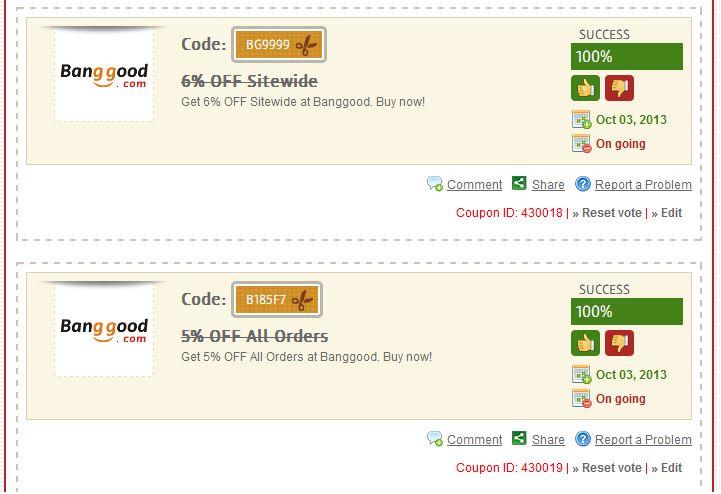 Banggood use multiple coupons