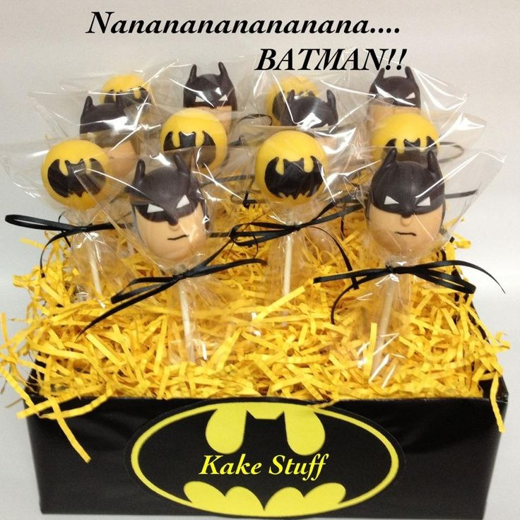 Best 25 Batman Cake Pops Ideas On Pinterest Superhero