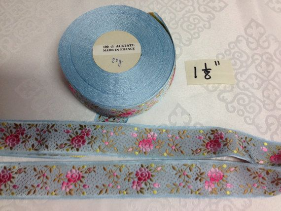 Vintage Jacquard Floral Ribbon Collection. Sold by the yard.