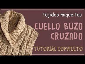 CHALECO CON CUELLO EN V PARA NIÑO.. EN PUNTADA ESCALONADA...A DOS AGUJAS 1 DE 2 - YouTube