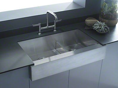 Nice Kohler Vault X X Under Mount Smart Divide Large/Medium Double Bowl Kitchen  Sink, Stainless Steel With Shortened Apron Front For Cabinet Rim 3